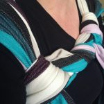 candy cane chest belt to avoid tying round the middle