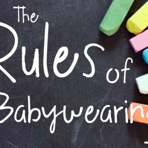 unhelpful rules of babywearing