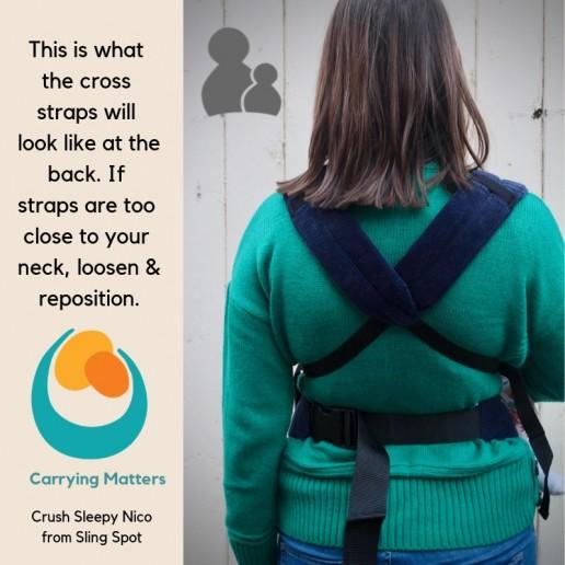 photo tutorial sleepy nico front carry cross straps