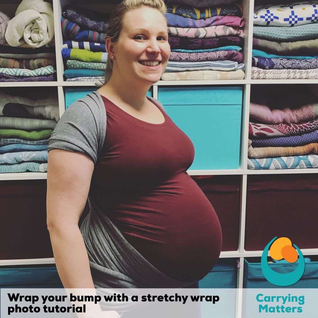 7841a861122 Stretchy wrap bump photo tutorial - Carrying Matters