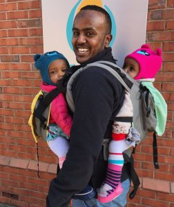 black babywearing week carrying multiples, tandem babywearing