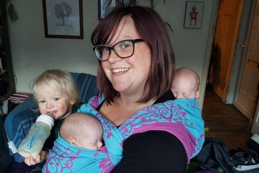 babywearing premature babies with a woven wrap