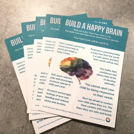 Build a happy brain postcards