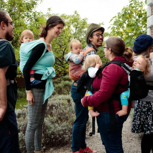 Benefits of babywearing mum dad baby twins