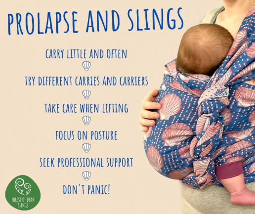 babywearing with prolapse, baby in woven wrap