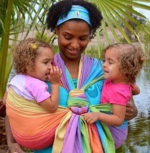 Laketa Kemp Jasmines Hip Carry Tandem babywearing